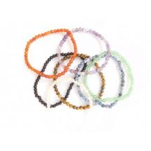 Bracelet / 4 mm bead / ass. stones