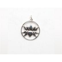 Charm / Lotus / sterling silver