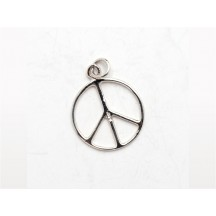 Charm / Peace  / sterling silver