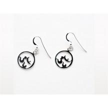 Earring / Om / sterling silver