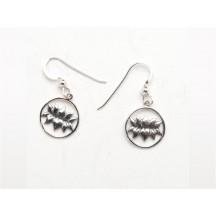 Earring / Lotus / sterling silver