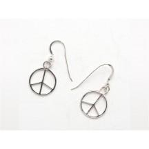 Earring / Peace / sterling silver