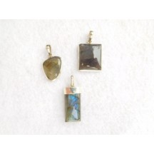Pendant / Labradorite / sterling silver