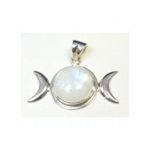 Triple Moon Pendant / sterling silver