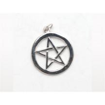 Pentagram Charm (Large) / Sterling Silver