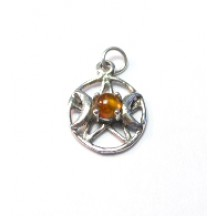Pentagram Triplemoon Pendant (Small) / Sterling Silver