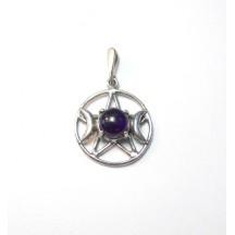 Pentagram Triplemoon Pendant (Large) / Sterling Silver