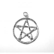 Pentagram Charm (Broomstick) / Sterling Silver