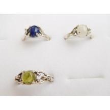 Ring / Goddess ass stones / sterling silver
