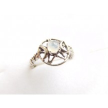 Ring / Triple Moon ass. stones / sterling silver