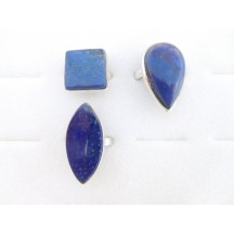Ring / Lapis Ass. shapes & sizes / sterling silver