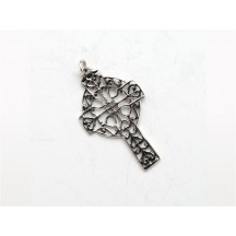 Celtic Cross Charm / Sterling Silver