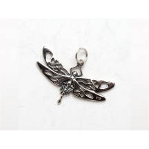 Celtic Dragonfly Charm / Sterling Silver