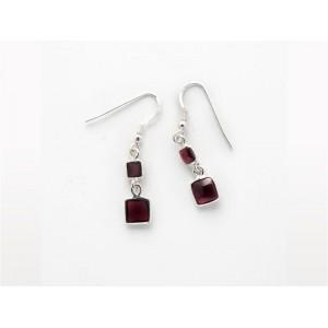 Gemstone Earrings (2 Stones)