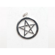 Pentagram Charm (Large) / Sterling Silver